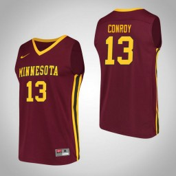 Minnesota Golden Gophers #13 Hunt Conroy Performance Authentic College Basketball Jersey Maroon