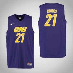 Youth Northern Iowa Panthers #21 Hunter Rhodes Authentic College Basketball Jersey Purple