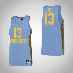 Marquette Golden Eagles #13 Ike Eke Authentic College Basketball Jersey Blue