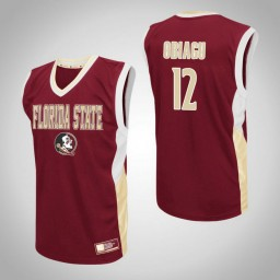 Florida State Seminoles #12 Ike Obiagu Fadeaway Authentic College Basketball Jersey Red