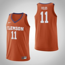 Youth Clemson Tigers #11 Isaac Fields Authentic College Basketball Jersey Orange