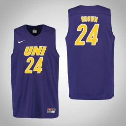 Youth Northern Iowa Panthers #24 Isaiah Brown Authentic College Basketball Jersey Purple
