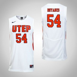 Women's UTEP Miners #54 Isaiah Rhyanes Authentic College Basketball Jersey White