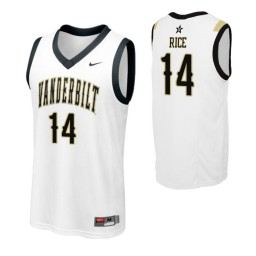 Youth Vanderbilt Commodores #14 Isaiah Rice White Authentic College Basketball Jersey