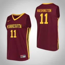 Minnesota Golden Gophers #11 Isaiah Washington Performance Authentic College Basketball Jersey Maroon