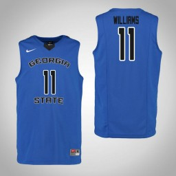 Youth Georgia State Panthers #11 Isaiah Williams Authentic College Basketball Jersey Blue