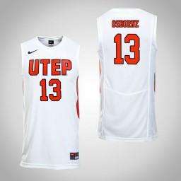 Women's UTEP Miners #13 Isiah Osborne Authentic College Basketball Jersey White