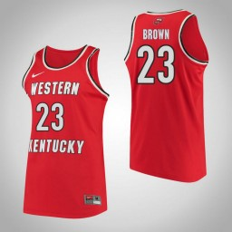 Western Kentucky #23 Ivy Brown Performance Authentic College Basketball Jersey Red