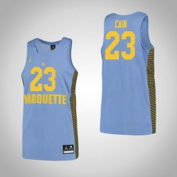 Marquette Golden Eagles #23 Jamal Cain Authentic College Basketball Jersey Blue