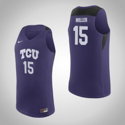 Youth TCU Horned Frogs #15 JD Miller Authentic College Basketball Jersey Purple