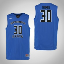Youth Georgia State Panthers #30 Jeff Thomas Authentic College Basketball Jersey Blue