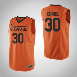 Women's Oklahoma St Cowboys #30 Jeffrey Carroll Authentic College Basketball Jersey Orange