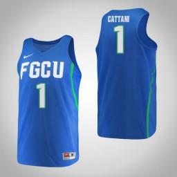 Women's Florida Gulf Coast Eagles #1 Jessica Cattani Authentic College Basketball Jersey Blue