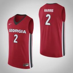 Women's Georgia Bulldogs #2 Jordan Harris Authentic College Basketball Jersey Red