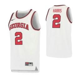 Women's Georgia Bulldogs #2 Jordan Harris Retro Performance Authentic College Basketball Jersey White
