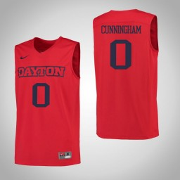 Dayton Flyers #0 Josh Cunningham Authentic College Basketball Jersey Red