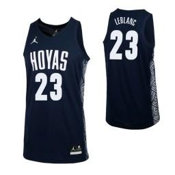 Youth Georgetown Hoyas #23 Josh LeBlanc Authentic College Basketball Jersey Navy