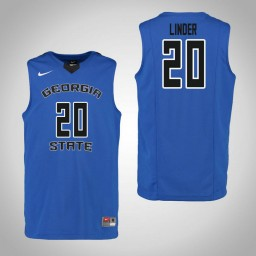 Youth Georgia State Panthers #20 Josh Linder Authentic College Basketball Jersey Blue
