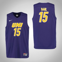 Youth Northern Iowa Panthers #15 Justin Dahl Authentic College Basketball Jersey Purple