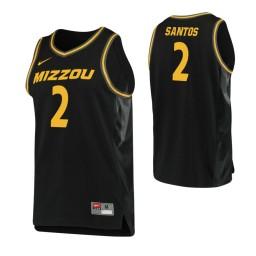 Youth Missouri Tigers #2 K.J. Santos Authentic College Basketball Jersey Black