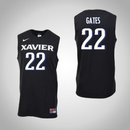 Women's Xavier Musketeers #22 Kaiser Gates Authentic College Basketball Jersey Black