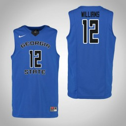 Youth Georgia State Panthers #12 Kane Williams Authentic College Basketball Jersey Blue