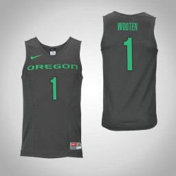 Youth Oregon Ducks #1 Kenny Wooten Authentic College Basketball Jersey Gray