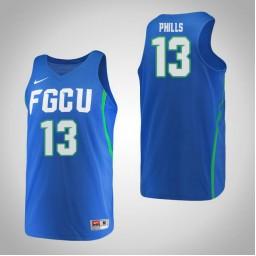 Women's Florida Gulf Coast Eagles #13 Kerstie Phills Authentic College Basketball Jersey Blue