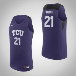 Youth TCU Horned Frogs #21 Kevin Samuel Authentic College Basketball Jersey Purple