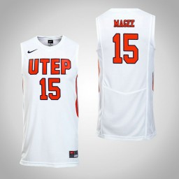 Women's UTEP Miners #15 Kobe Magee Authentic College Basketball Jersey White