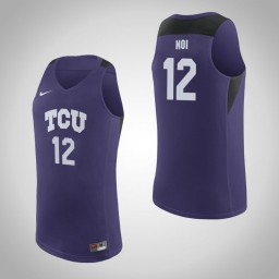 Youth TCU Horned Frogs #12 Kouat Noi Authentic College Basketball Jersey Purple