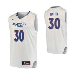 Youth Colorado State Rams #30 Kris Martin Authentic College Basketball Jersey White