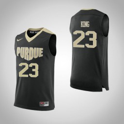 Purdue Boilermakers #23 Kyle King Authentic College Basketball Jersey Black