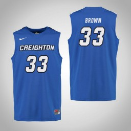 Youth Creighton Bluejays #33 Kylie Brown Authentic College Basketball Jersey Royal
