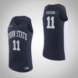 Penn State Nittany Lions #11 Lamar Stevens Authentic College Basketball Jersey Navy