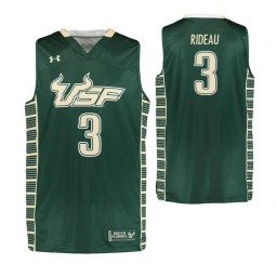 South Florida Bulls #3 LaQuincy Rideau Authentic College Basketball Jersey Green