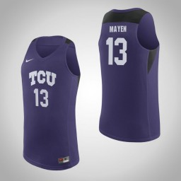 Youth TCU Horned Frogs #13 Lat Mayen Authentic College Basketball Jersey Purple