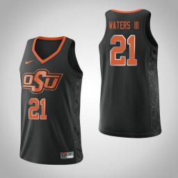 Women's Oklahoma St Cowboys #21 Lindy Waters III Authentic College Basketball Jersey Black