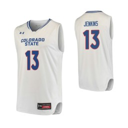Youth Colorado State Rams #13 Lorenzo Jenkins Authentic College Basketball Jersey White
