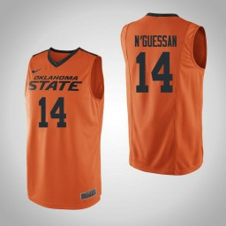 Women's Oklahoma St Cowboys #14 Lucas N'Guessan Authentic College Basketball Jersey Orange