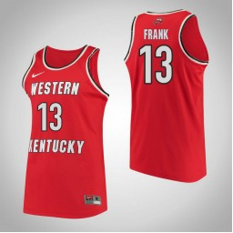Western Kentucky #13 Malaka Frank Performance Authentic College Basketball Jersey Red