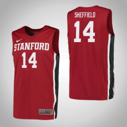 Women's Stanford Cardinal #14 Marcus Sheffield Authentic College Basketball Jersey Red