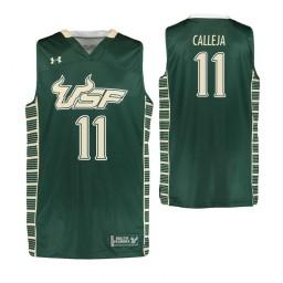 South Florida Bulls #11 Mark Calleja Authentic College Basketball Jersey Green