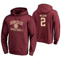 Men's Boston College Eagles Avery Wilson Personalized Maroon Hoodie