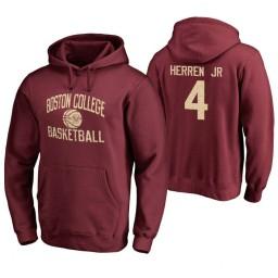 Men's Boston College Eagles Chris Herren Jr. Personalized Maroon Hoodie
