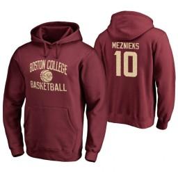 Men's Boston College Eagles Ervins Meznieks Personalized Maroon Hoodie