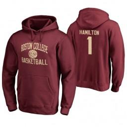 Men's Boston College Eagles Jairus Hamilton Personalized Maroon Hoodie