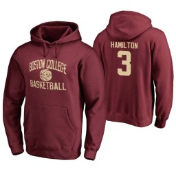 Men's Boston College Eagles Jared Hamilton Personalized Maroon Hoodie
