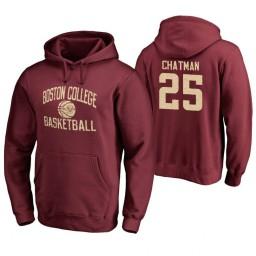 Men's Boston College Eagles Jordan Chatman Personalized Maroon Hoodie