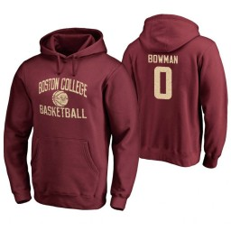 Men's Boston College Eagles Ky Bowman Personalized Maroon Hoodie